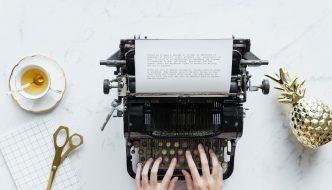 typewriter and tea