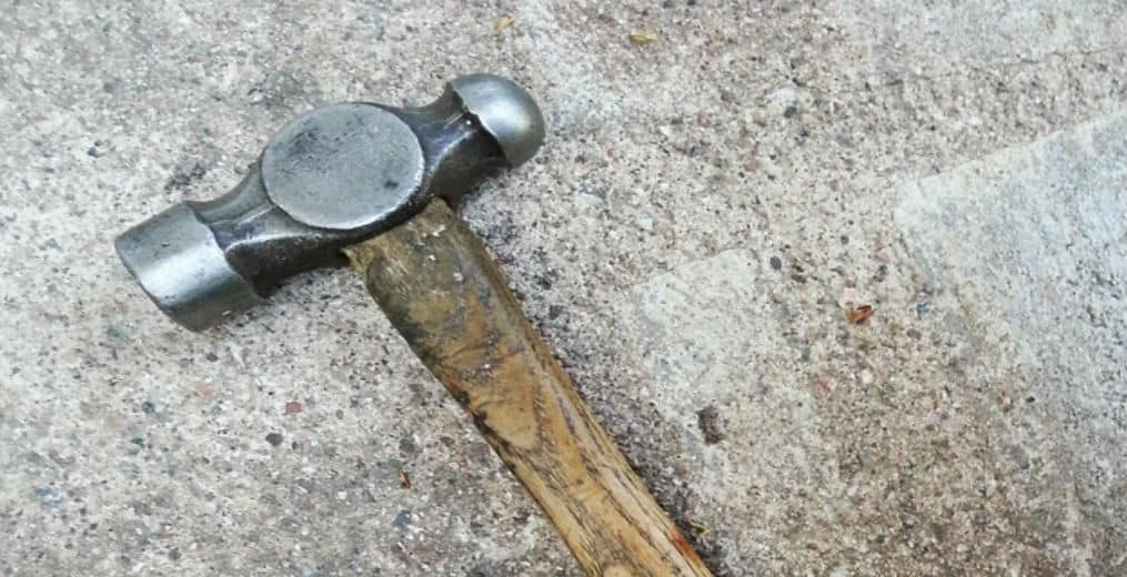 old ball peen hammer