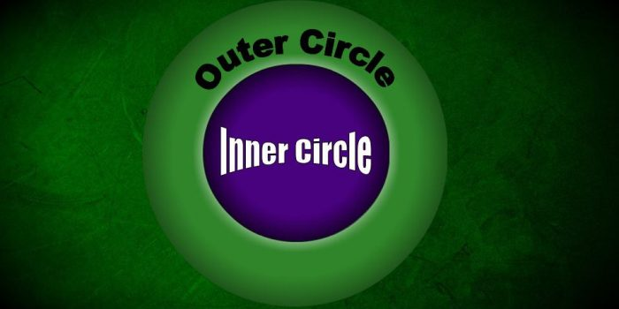 """Taking care of the Inner Circle:  an """"Aha!"""" moment"""