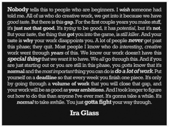 Advice for Creatives from Ira Glass